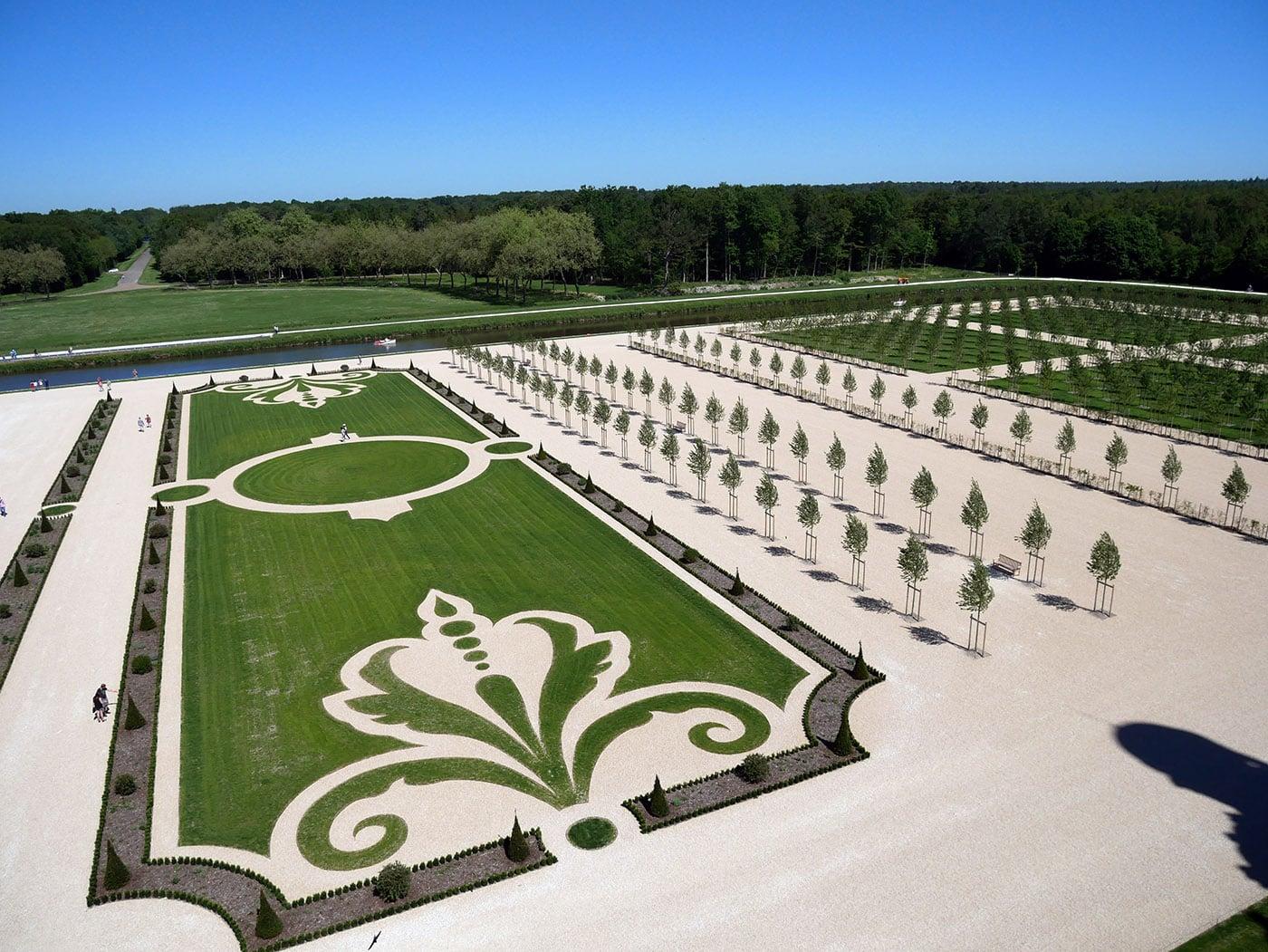 Les jardins à la française du château de Chambord