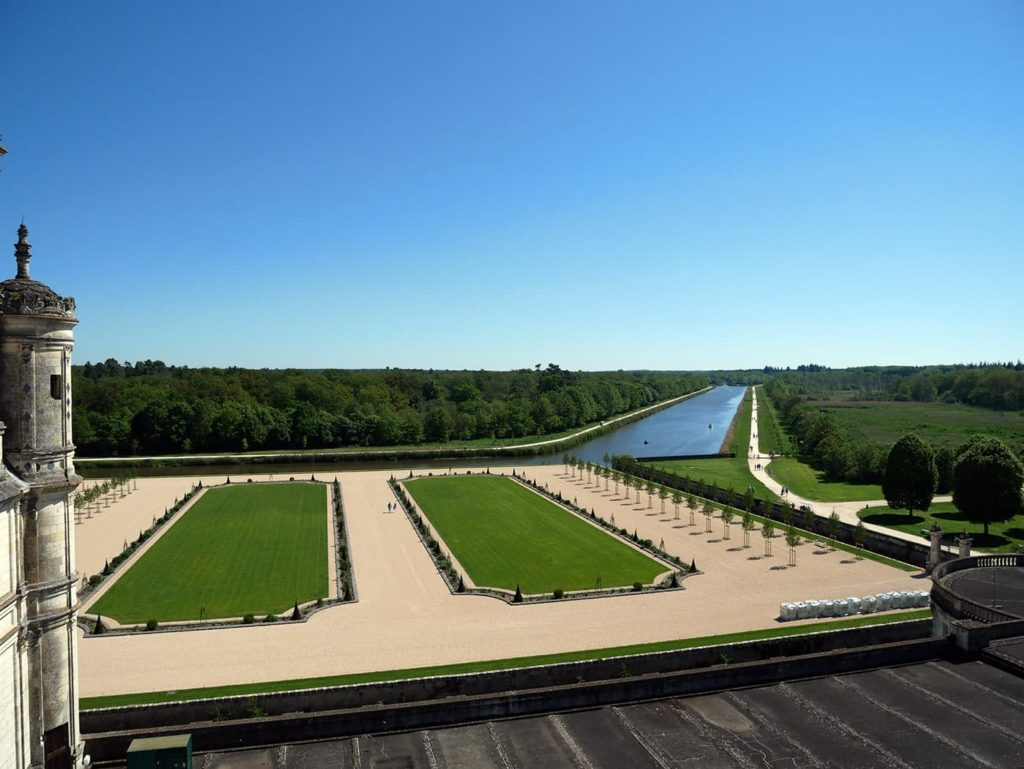 The gardens of the Chambord Castle