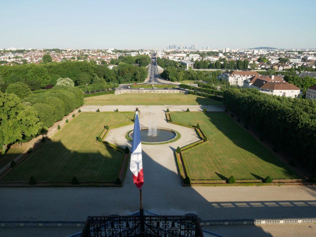 Château de Maisons-Laffitte - Vue sur le parc depuis le toit