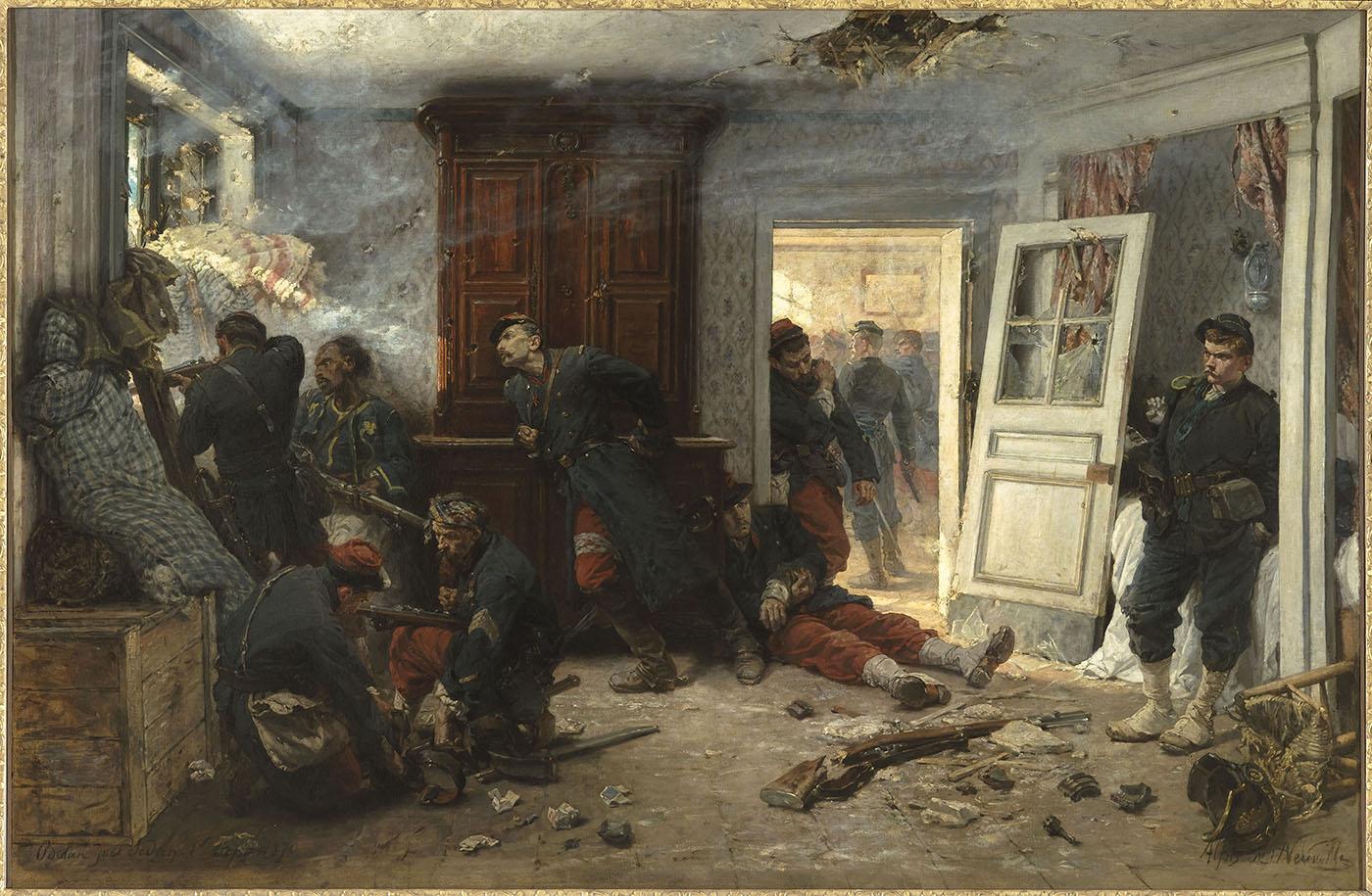 France allemagne s 1870 1871 la guerre la commune les for Exposition d une maison