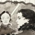 """""""Le fantôme"""" de Louise Ackermann (1813-1890), illustration par Maureen Wingrove"""