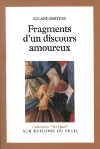 Roland Barthes, couverture du Fragment d'un discours amoureux