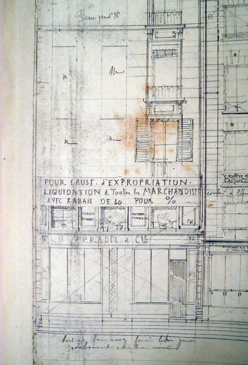 Expropriation sous les travaux d'Haussmann