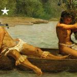 """Musée du Quai Branly Affiche de l'exposition """"Peintures des lointains"""""""