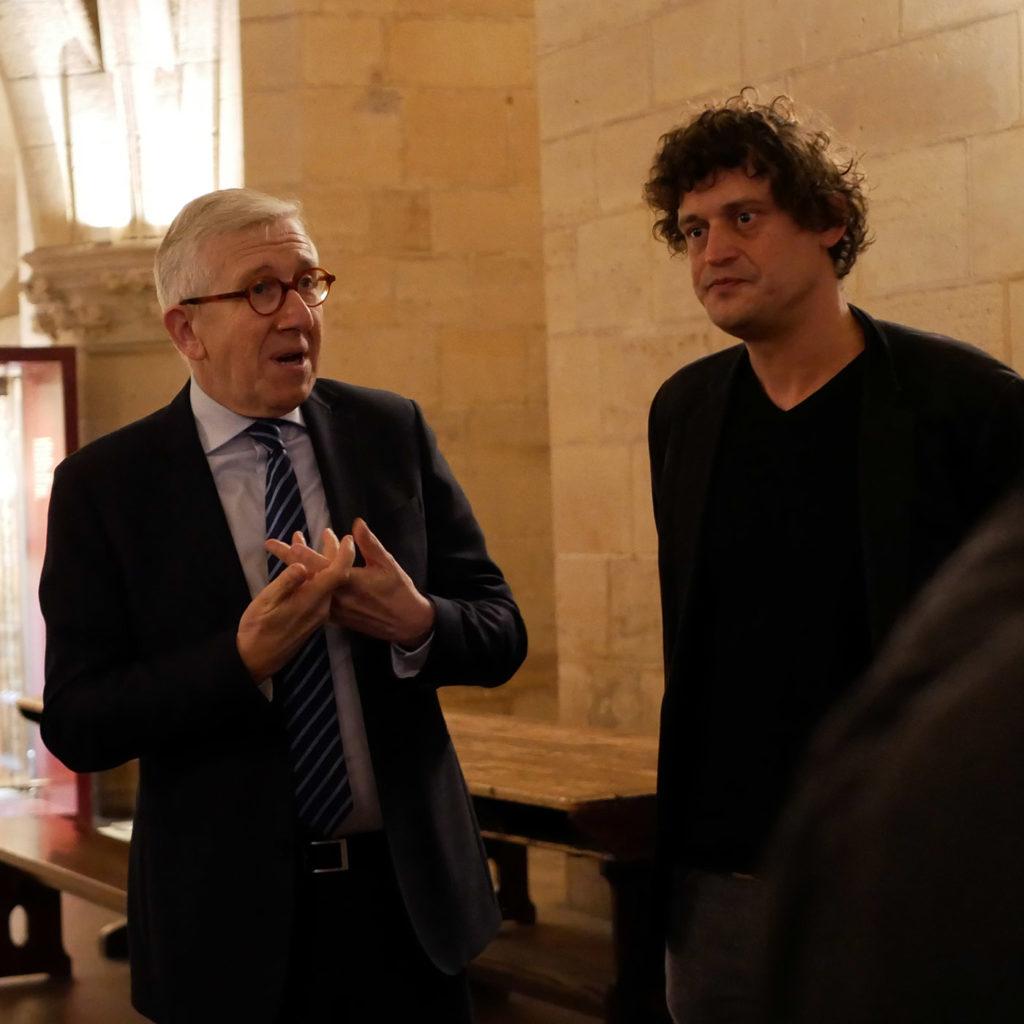 Philippe Bélaval, président du Centre des Monuments Nationaux, et Stéphane Thidet
