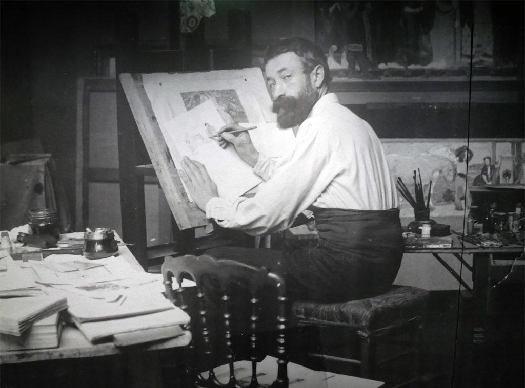 Kupka dans son atelier
