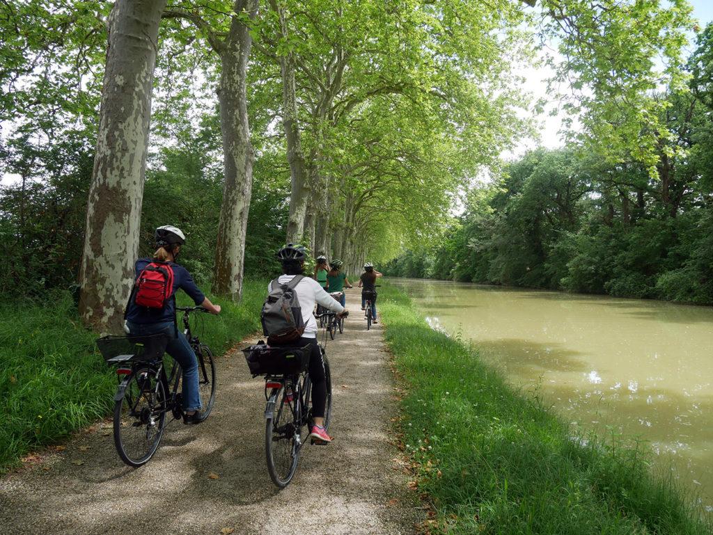 A vélo le long du Canal du Midi !