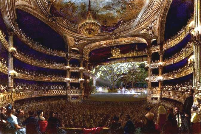 Grande salle du théâtre impérial de l'Opéra (salle Le Peletier)