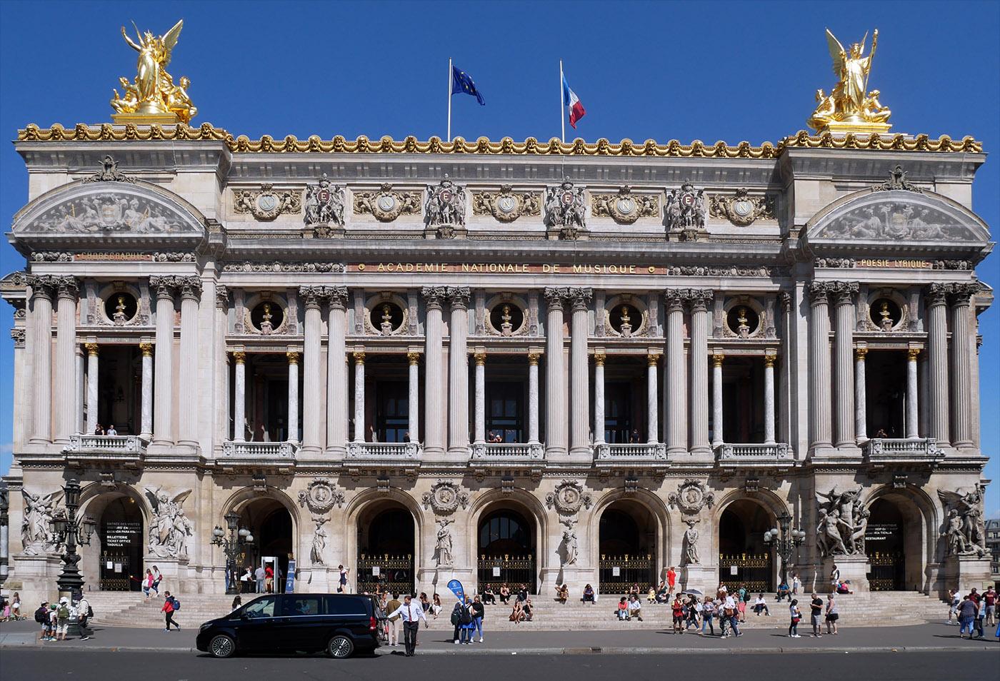 Façade principale de l'Opéra Garnier