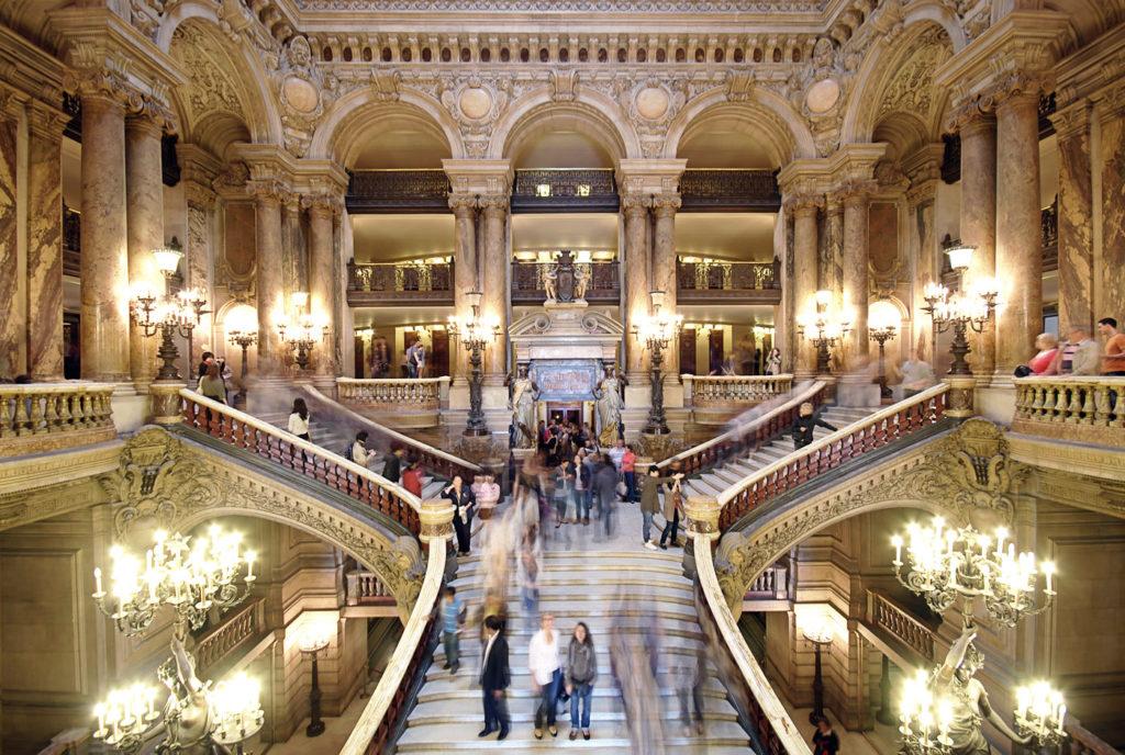 Le grand escalier de l'Opéra Garnier