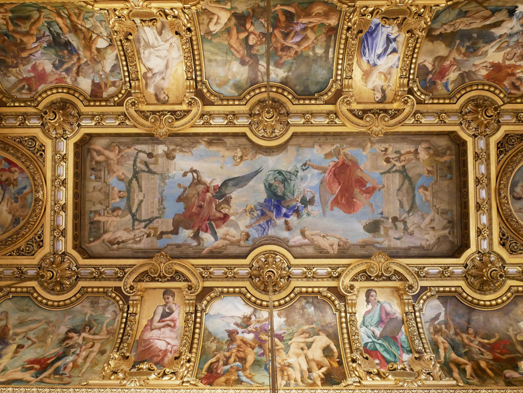 Plafond du grand foyer