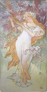 Mucha - Les Saisons : le printemps