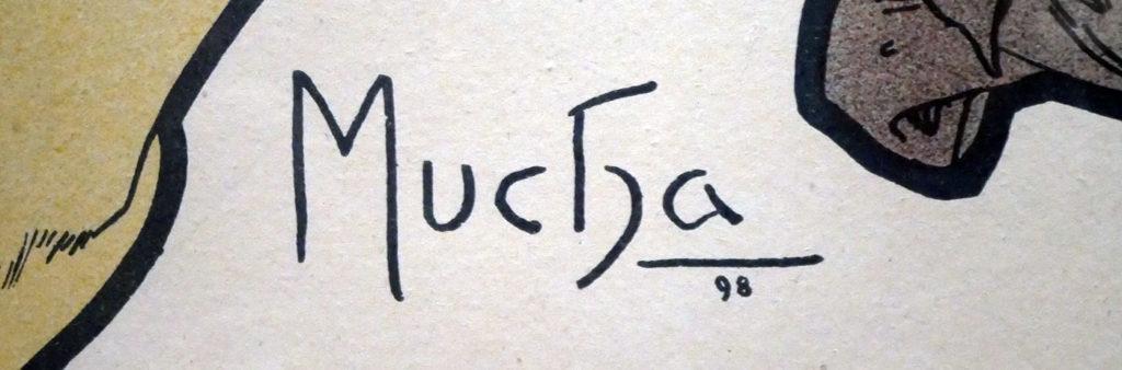 Signature d'Alphonse Mucha