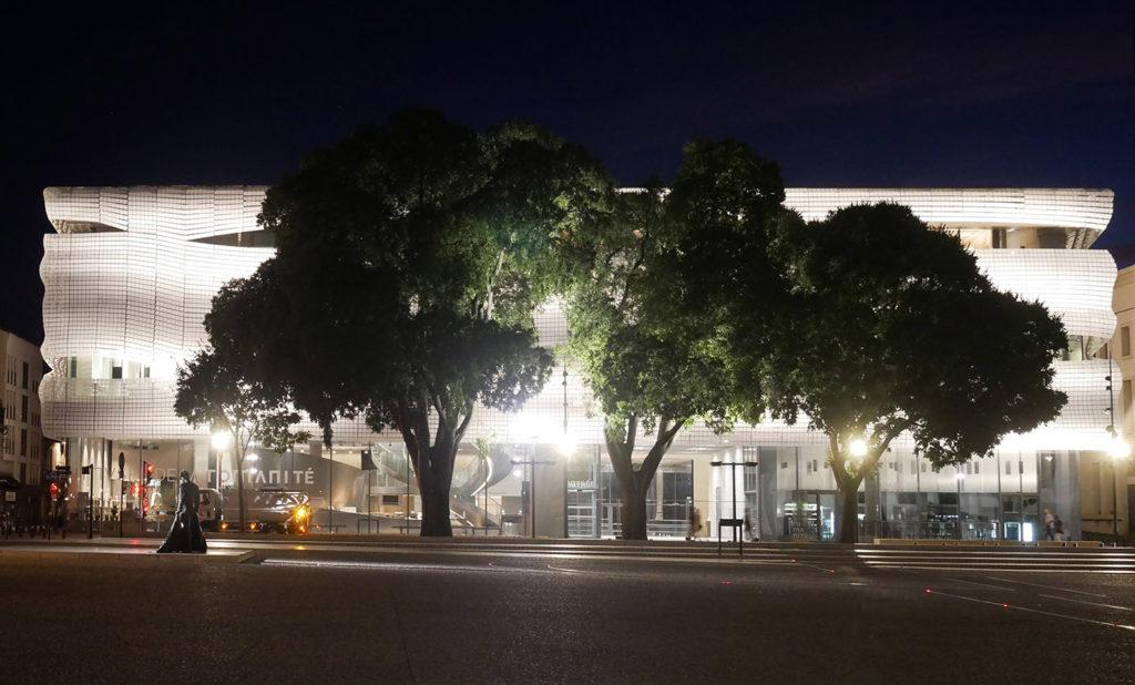 Musée de la Romanité by night