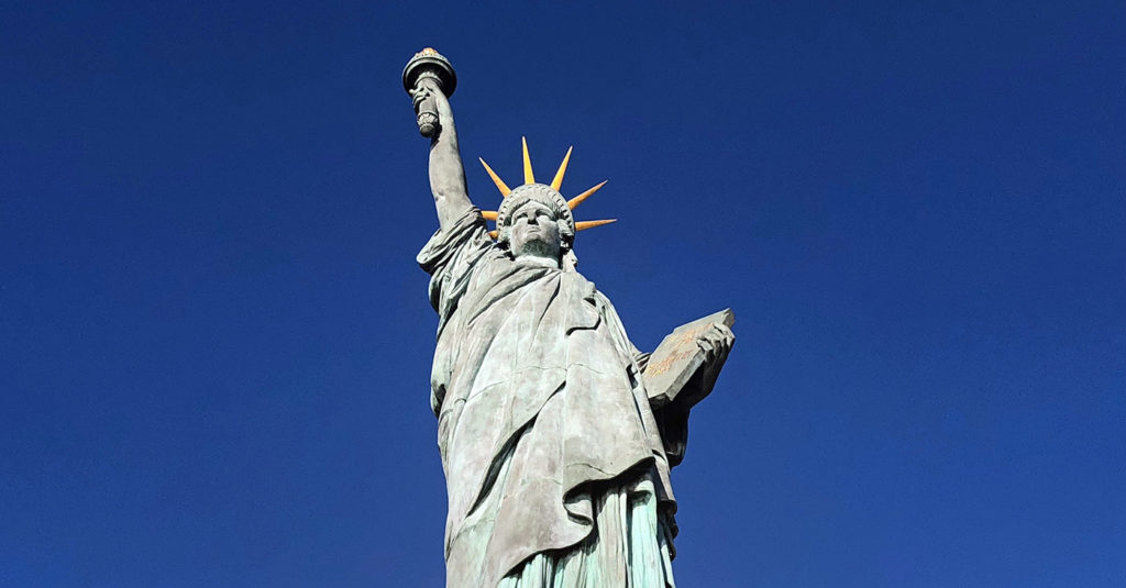 Statue of Liberty in Paris symbol of the franco-american friendship