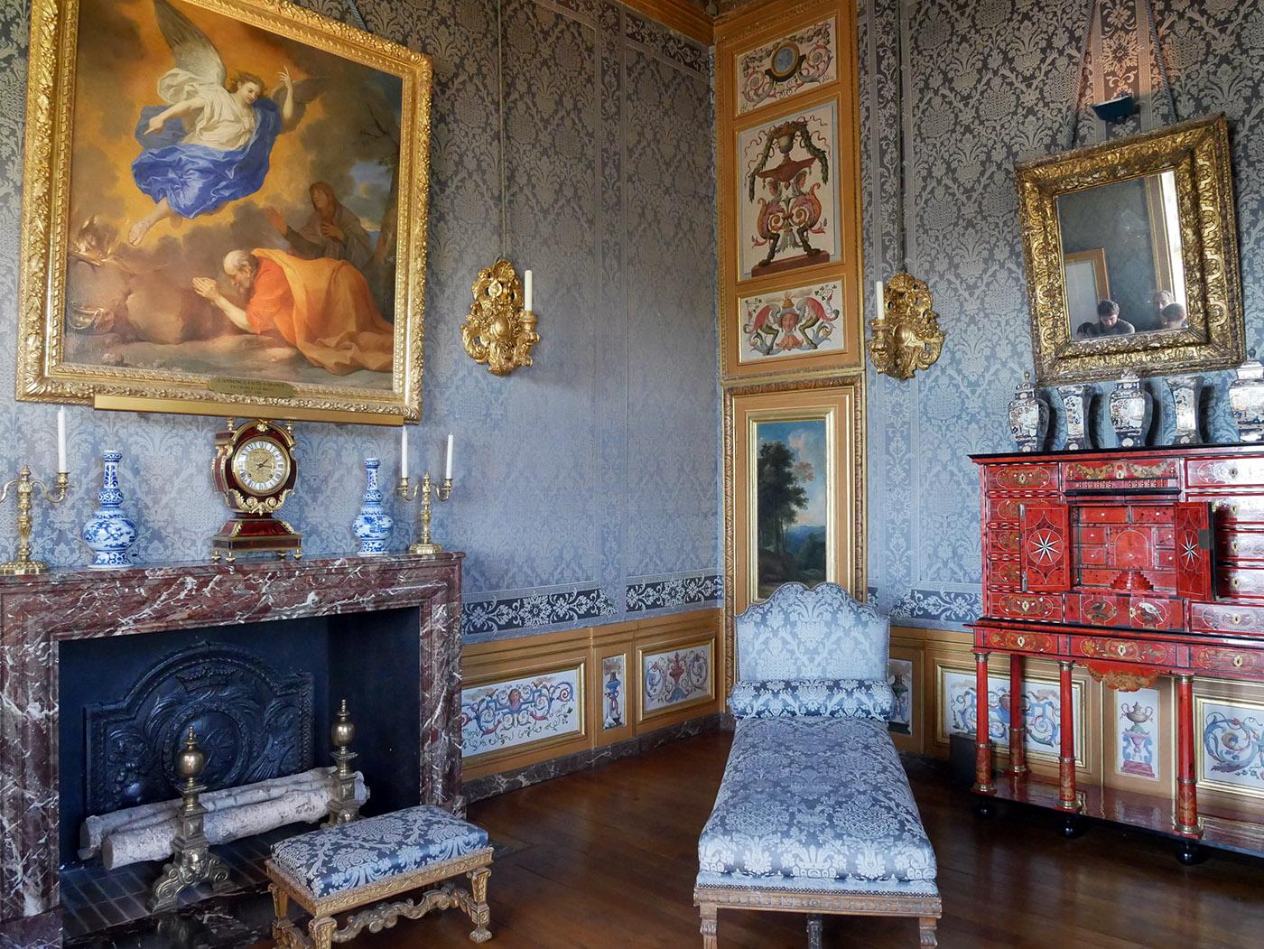 Vaux-le-Vicomte : chambre de Marie-Madeleine de Castille
