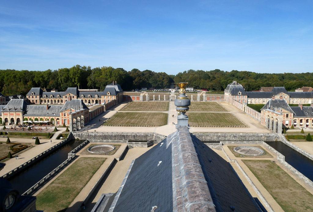 Vaux-le-Vicomte : vue sur les jardins