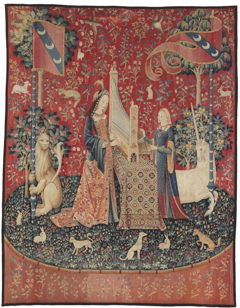Dame à la Licorne, musée de Cluny, l'ouïe