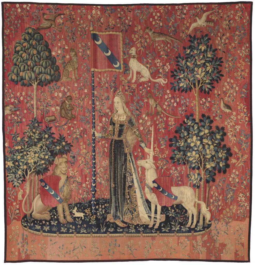 Dame à la Licorne, musée de Cluny, le toucher