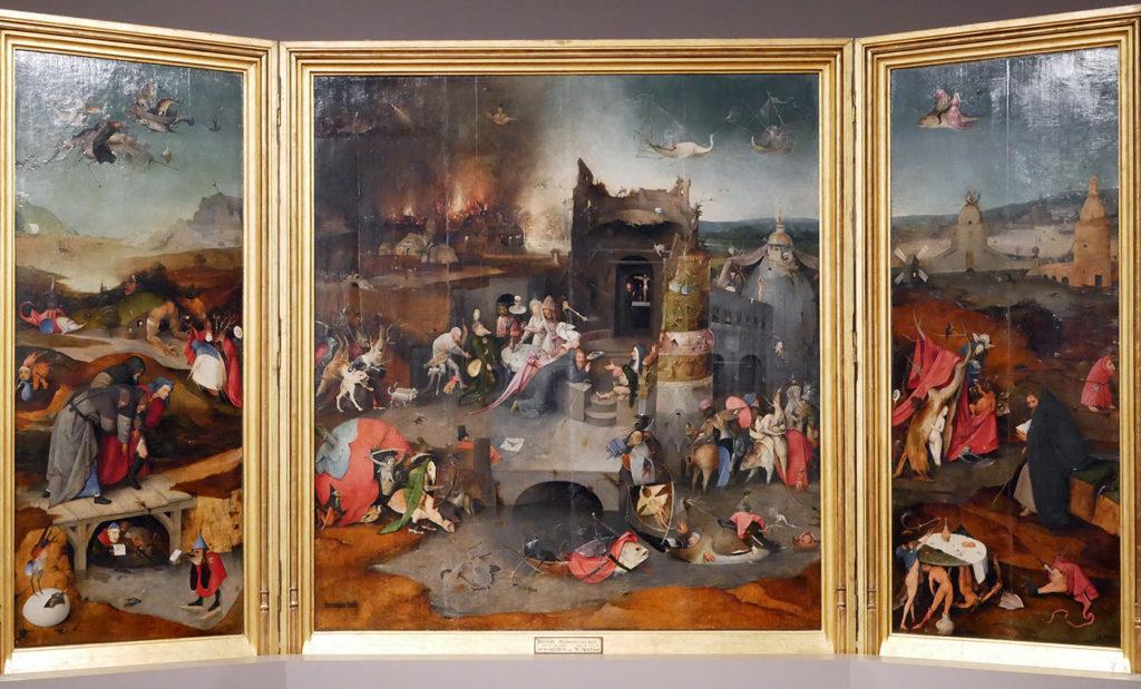 Jérôme Bosch, la Tentation de Saint Antoine