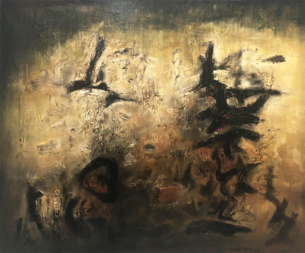 Zao Wou-Ki, Nous deux, Huile sur toile, 1957