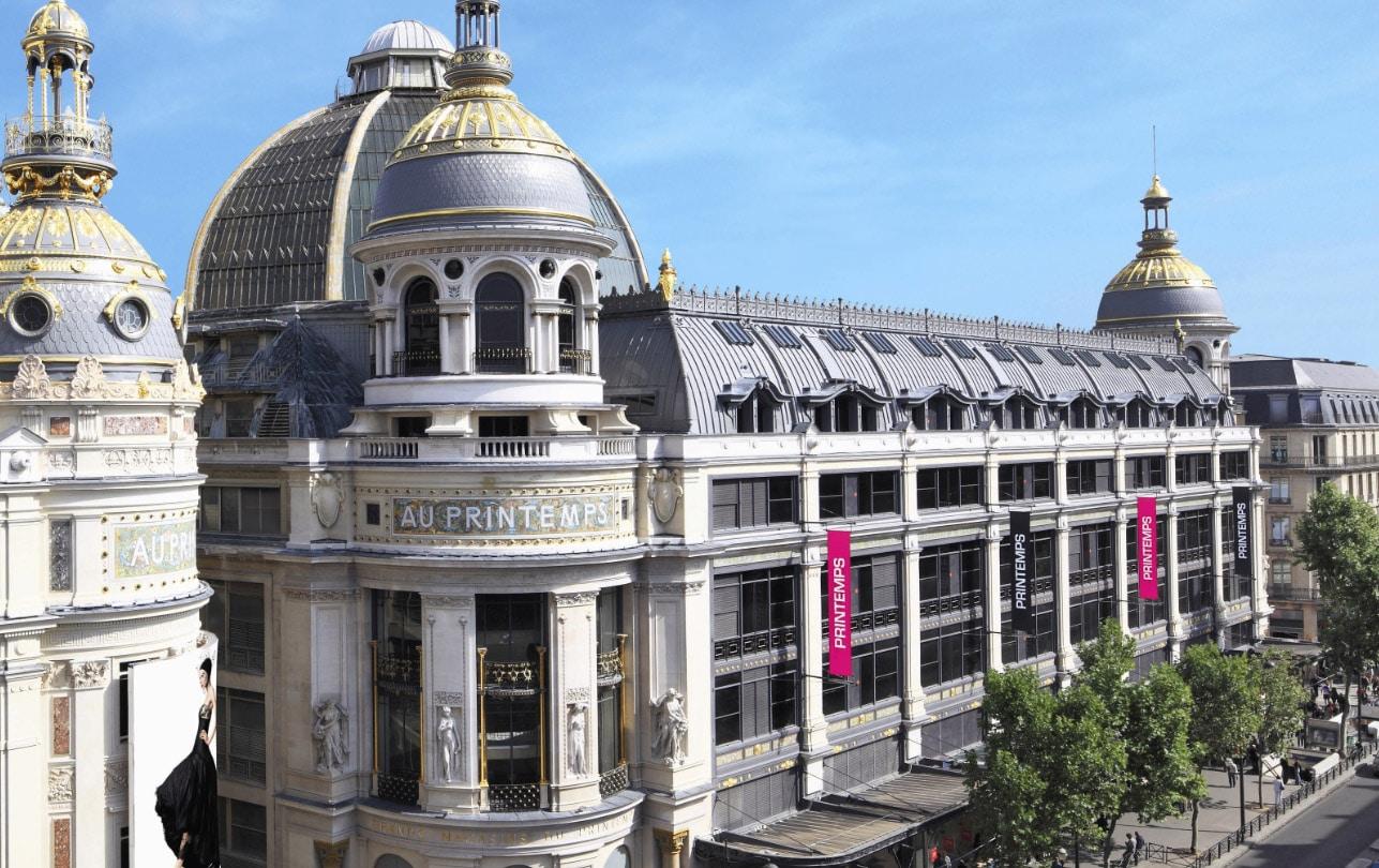 Vue de la façade du Printemps © Pascal Lemaître