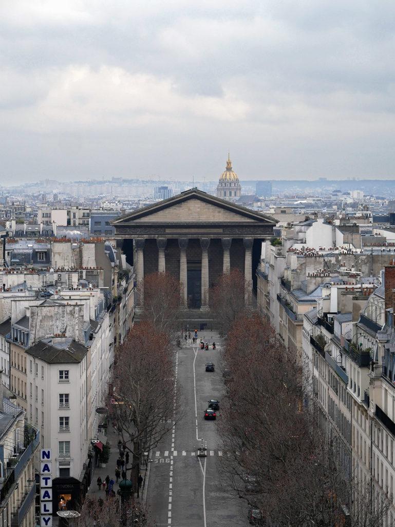 Vue sur Paris depuis la terrasse du Printemps