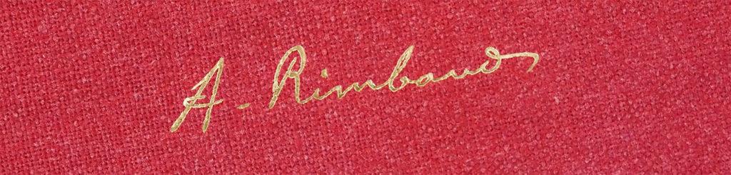 Signature d'Arthur Rimbaud