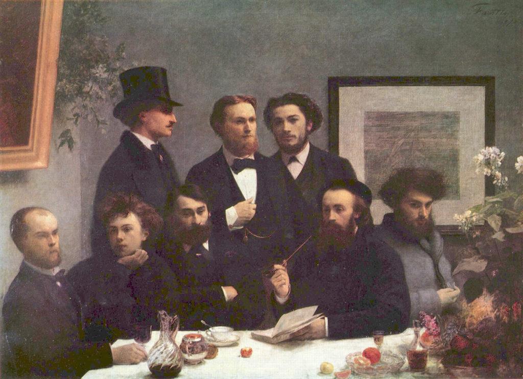 Henri Fantin-Latour, Un coin de table, avec Rimbaud et Verlaine