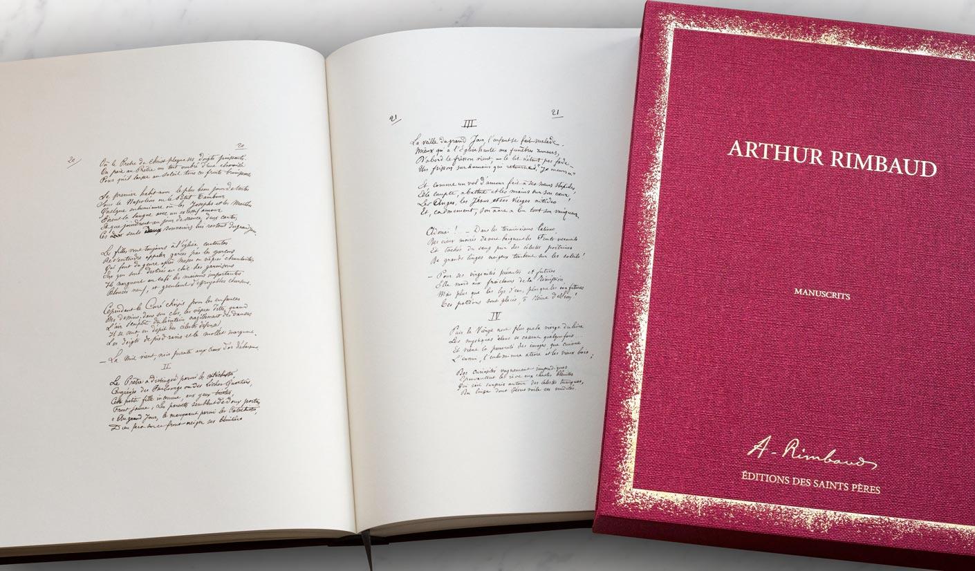 Les manuscrits de Rimbaud aux éditions des Saints-Pères