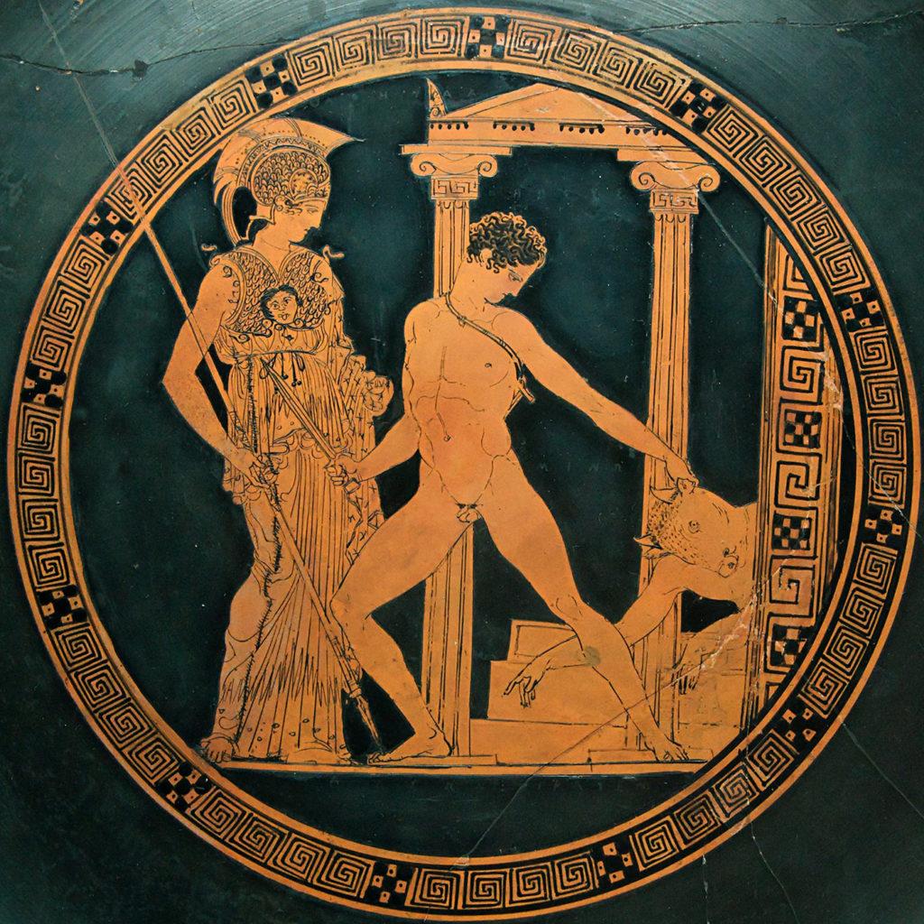 Thésée combat le Minotaure