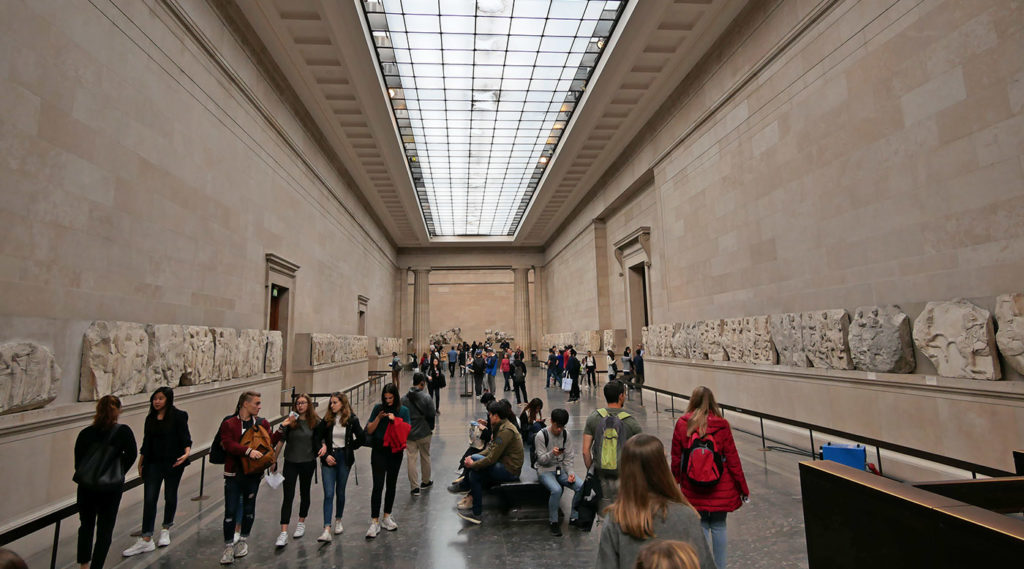 Hall dedicated to the Parthenon of Athens