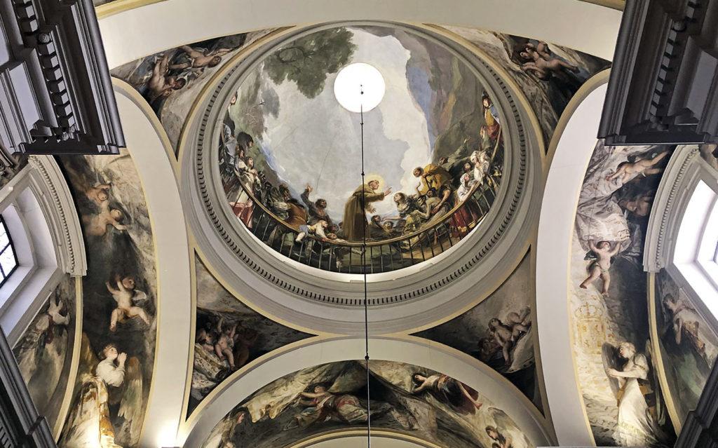 Goya's painting in the San Antonio de la Florida Chapel of Madrid