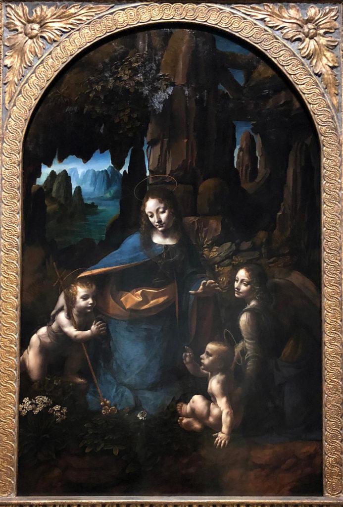 Léonard de Vinci, La vierge au rocher