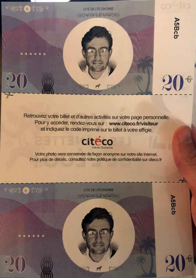 Billet personnalisé Cité de l'Economie