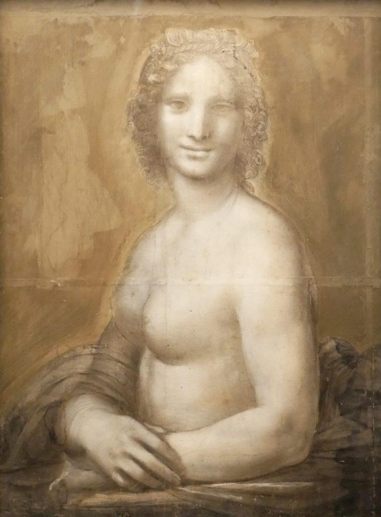 Léonard de Vinci ? ou son atelier, Femme nue dite La Joconde nue