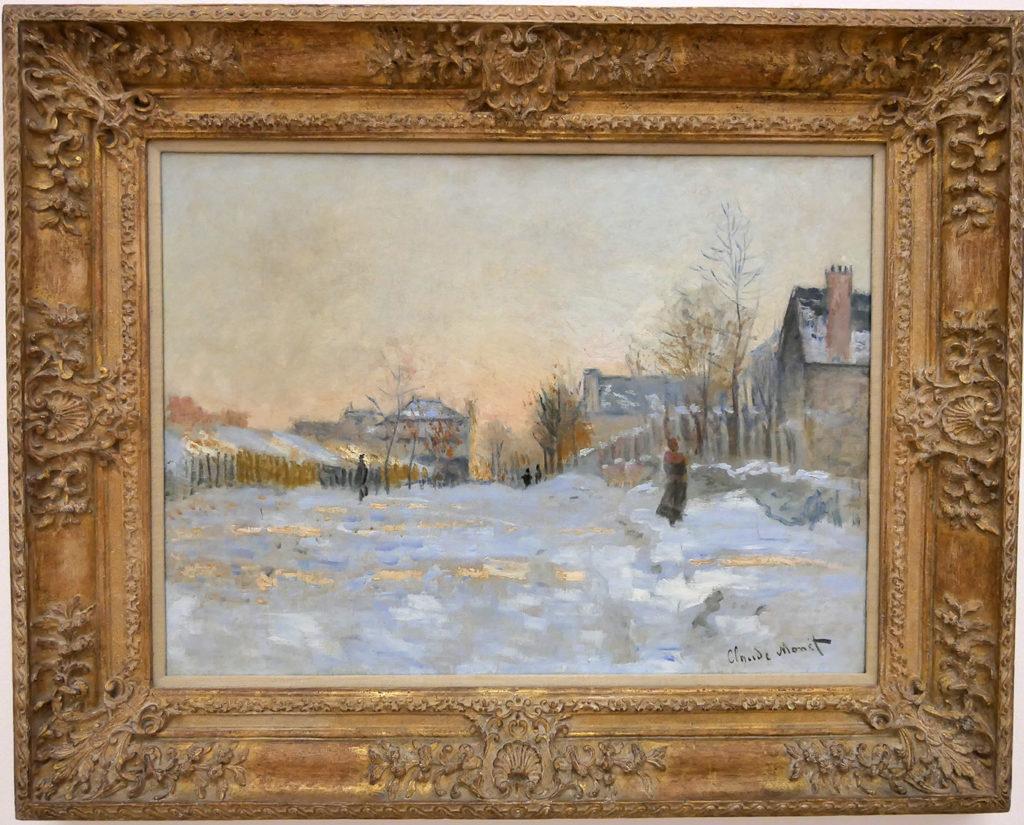 Claude Monet, La neige à Argenteuil