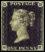 Premier timbre postal, le Penny Black