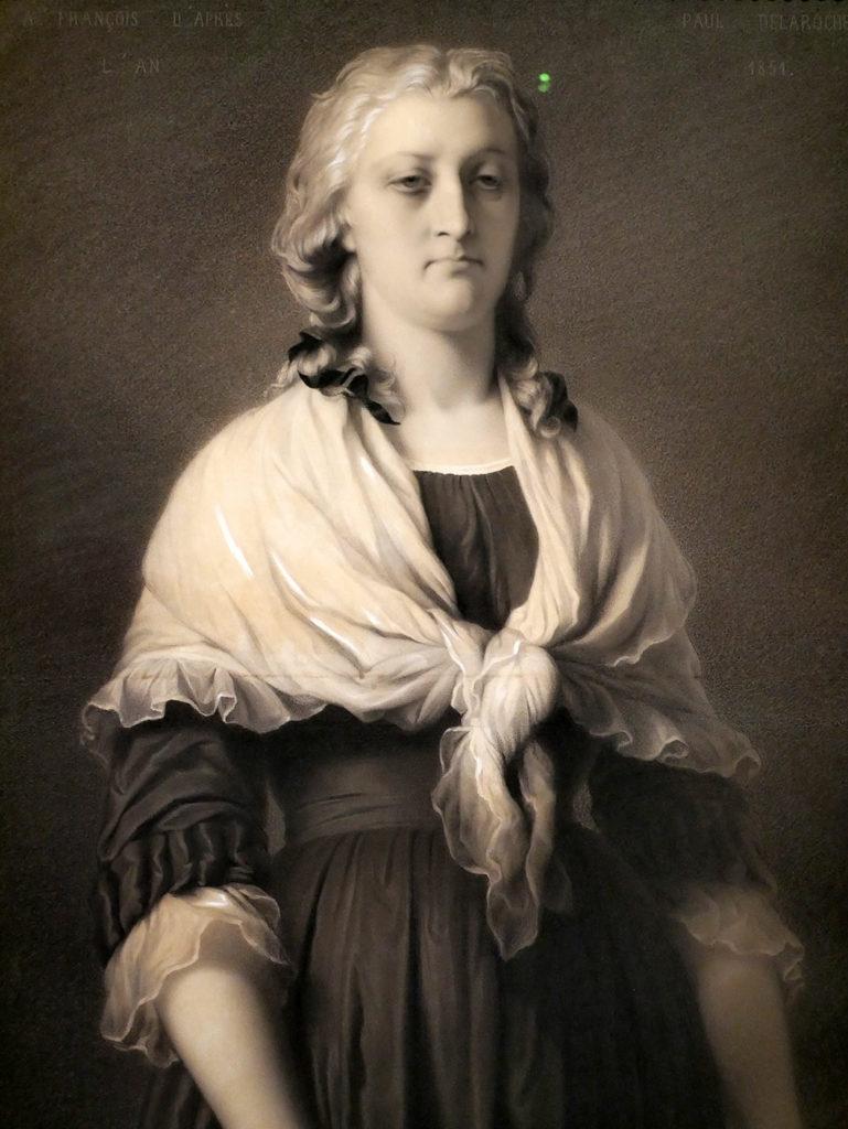 François Alphonse d'après Paul Delaroche, Marie-Antoinette à la Conciergerie, 1850