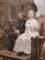 François Flameng, Marie-Antoinette se rendant au supplice, 1885
