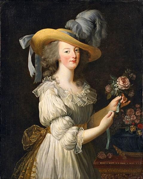 Elisabeth Vigée-Lebrun - Marie Antoinette en gaule, 1783