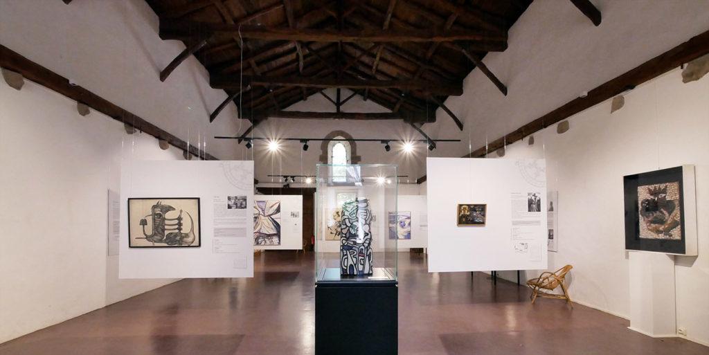 Abbaye de Beaulieu collection d'art moderne de Pierre Brache et Geneviève Bonnefoi