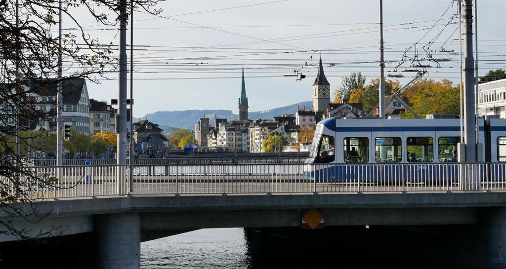 Tramway à Zurich