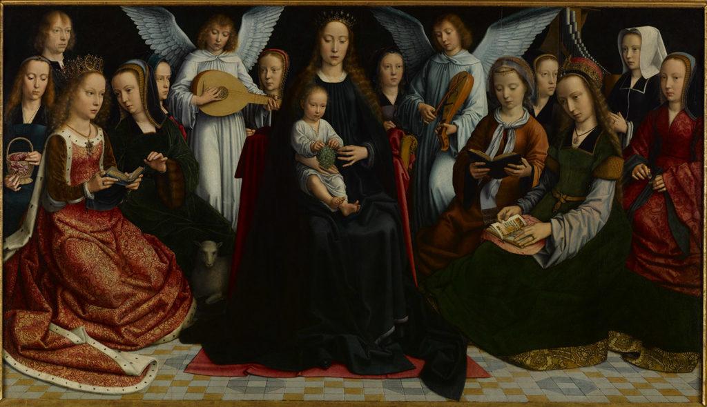 La Vierge entre les Vierges, Gérard David (1450 – 1523) – Musée des Beaux-Arts de Rouen c2rmf@Pierre-Yves Duval / Elsa Lambert