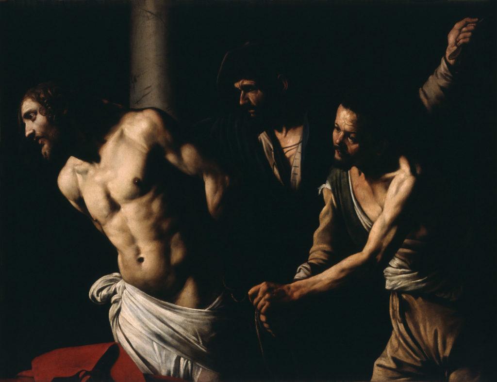 Le Caravage (Michelangelo Merisi, dit il Caravaggio, 1573-1610), La Flagellation du Christ à la colonne, vers 1606-1607, huile sur toile, 134,5 x 175,5)