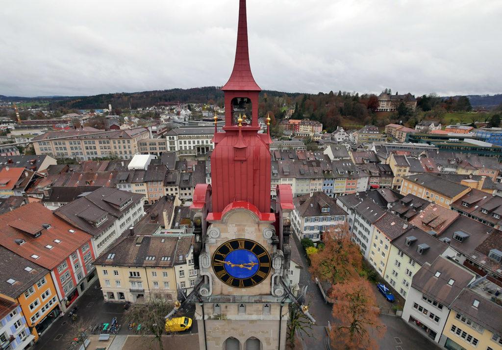 Vue sur Winterthour depuis le clocher de l'église