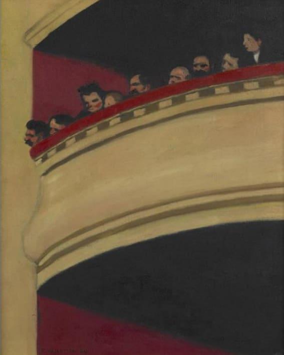 Félix Vallotton (1865 - 1925), Au Français, troisième galerie, 1909, huile sur toile, 45,7 x 39,4cm