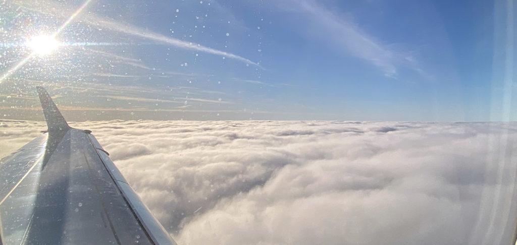 Voyage en avion à Manchester