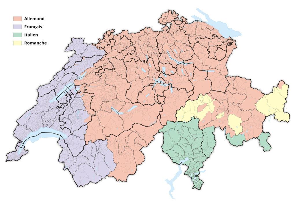 Les langues parlées en Suisse