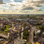 Aerial view of Manchester